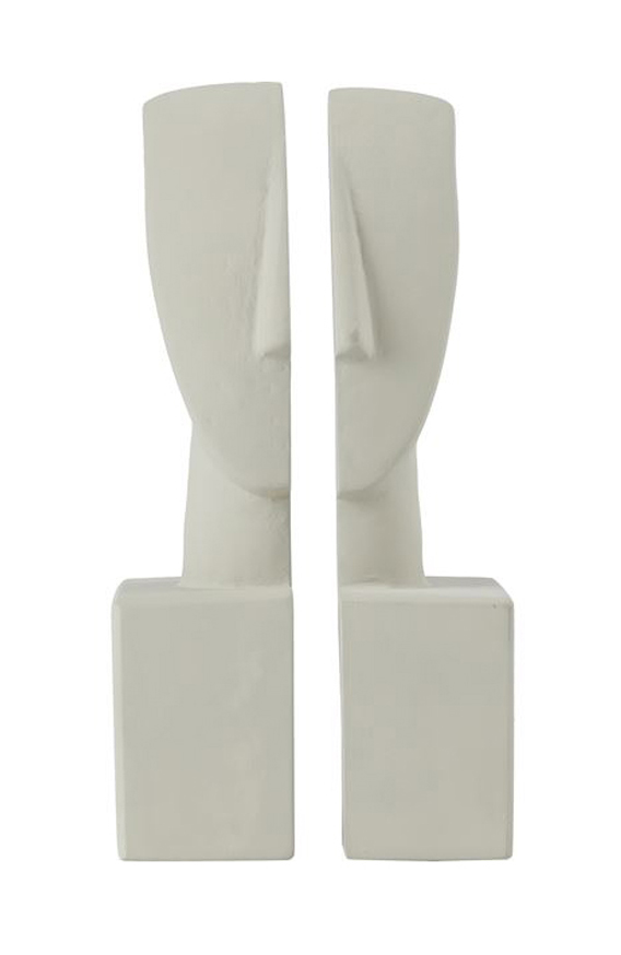 Cycladic Art Idols Bookends White