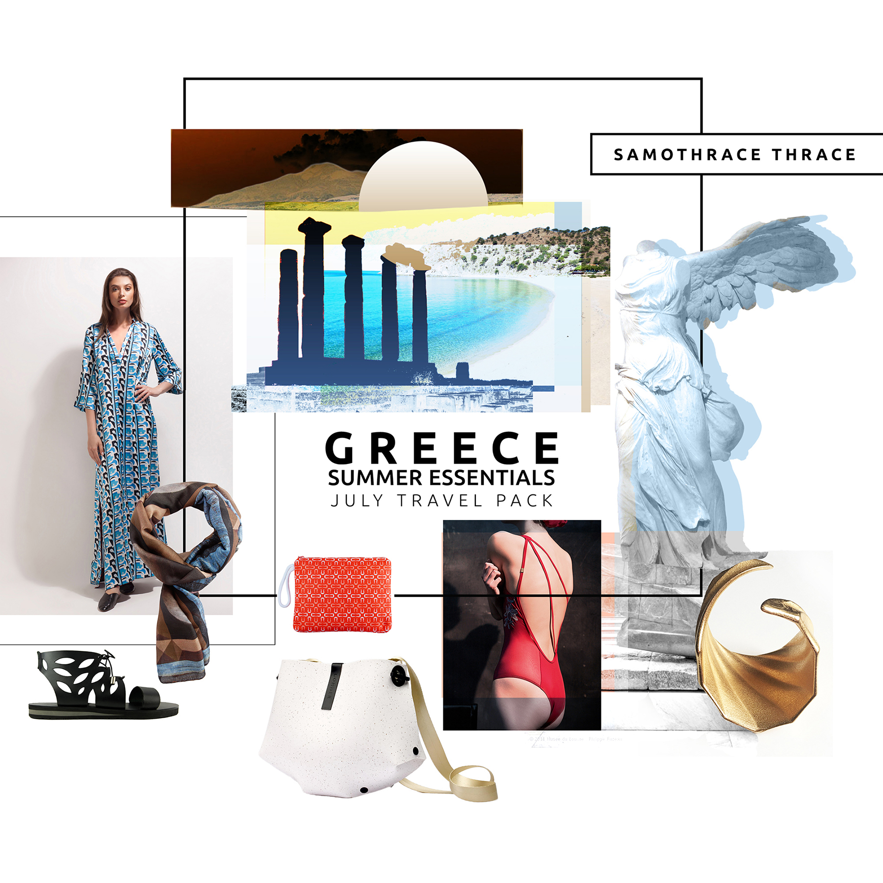 Summer Style 03 Forms Moodboard The Greek Designers