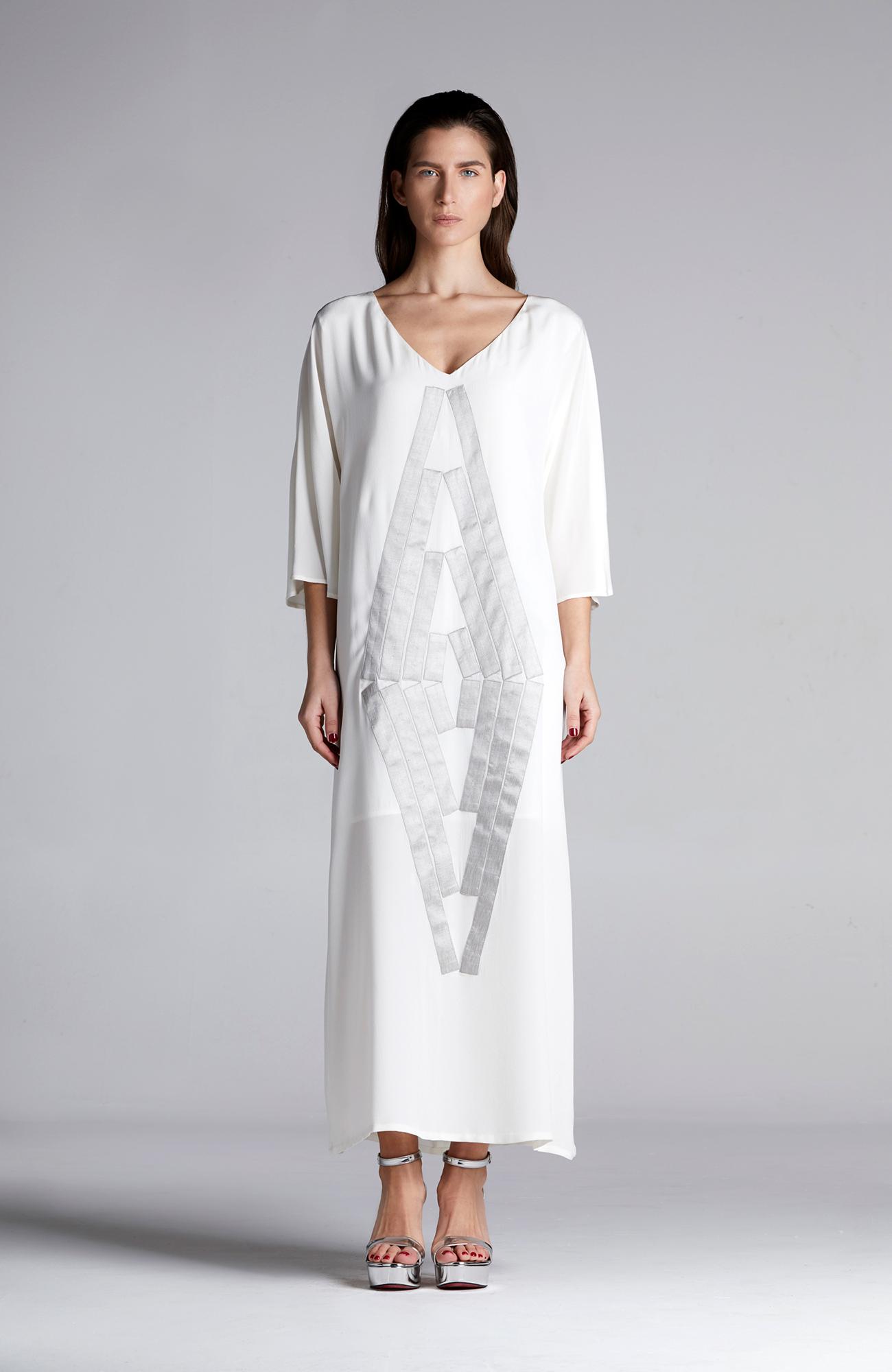 MONTIEU Silver Touch Silk Kaftan