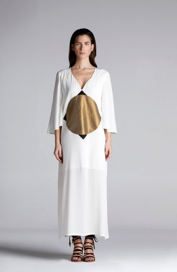 MONTIEU Sun- Drenched Silk Kaftan