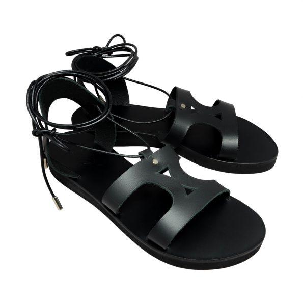 KALLINIKI Amphitrite Black Sandals