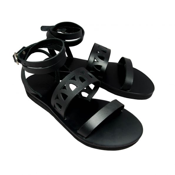 KALLINIKI Atlantis Black Sandals