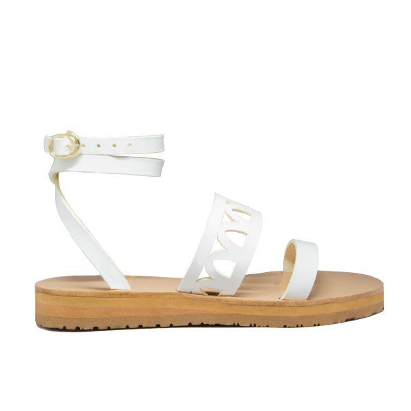 KALLINIKI Atlantis White Sandals