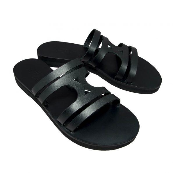 KALLINIKI Doris Black Sandals