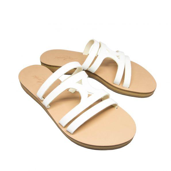 KALLINIKI Doris White Sandals