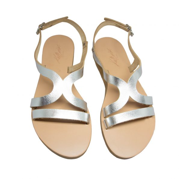KALLINIKI Kalypso Silver Sandals