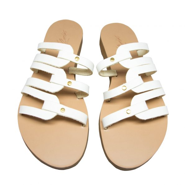 KALLINIKI Kymo White Sandals
