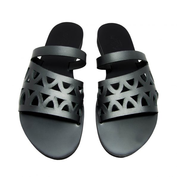 KALLINIKI Oceanis Black Sandals