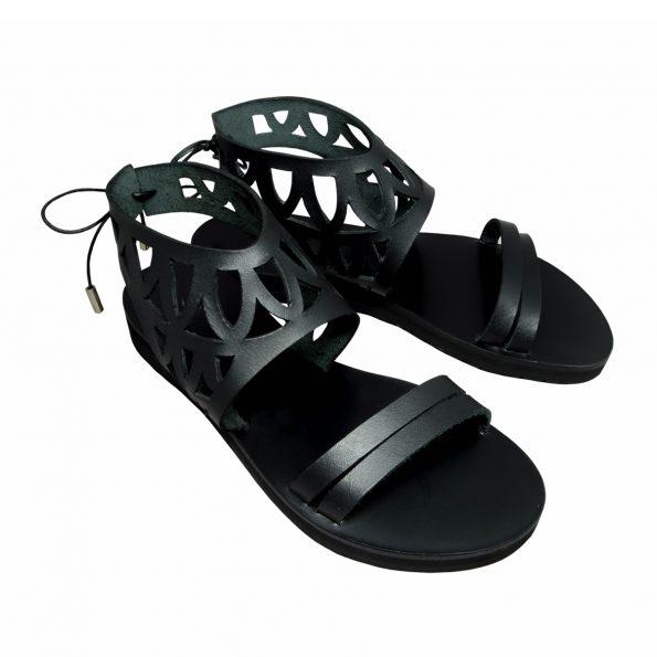 KALLINIKI Siren Black Sandals
