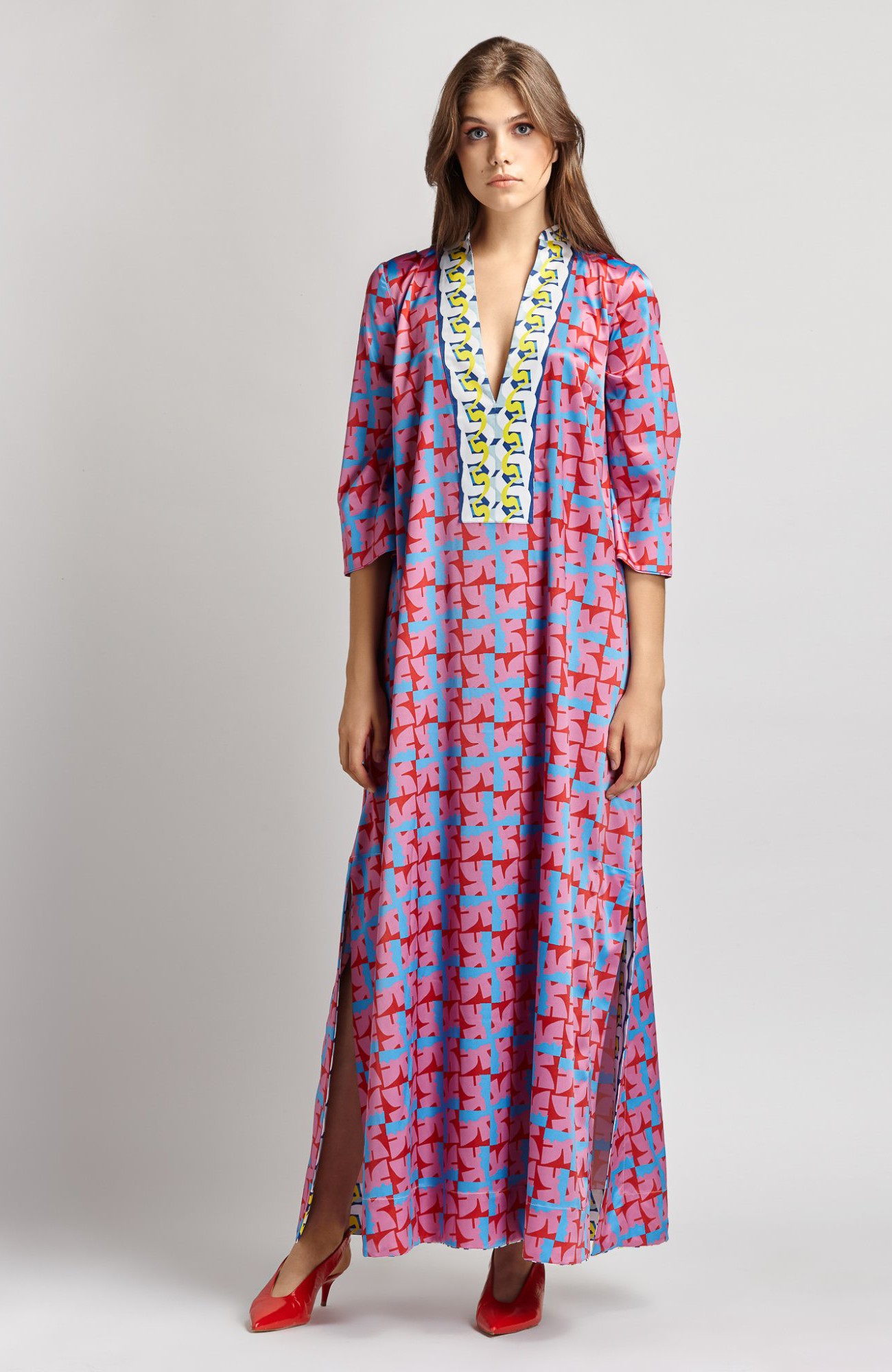 THE ARTIANS Ampelus Rose Kaftan