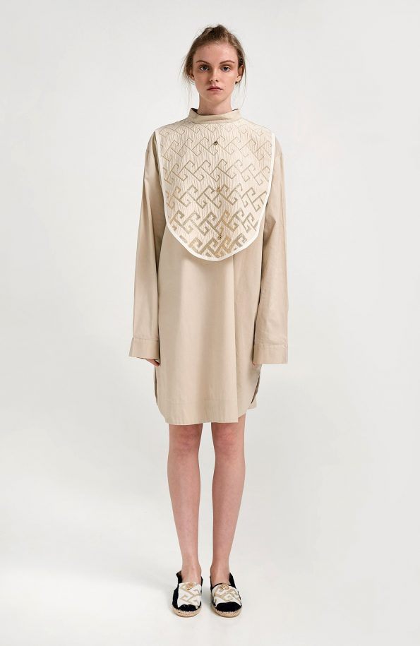 ERGON MYKONOS Apollonia Shirt Beige Meander