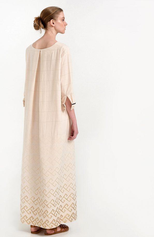 ERGON MYKONOS Thalia Dress Golden Meander