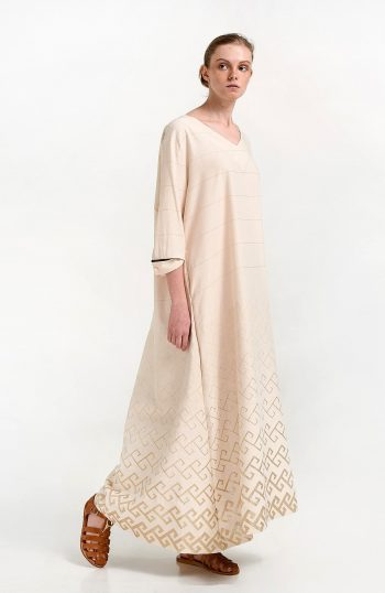 ERGON MYKONOS Thalia Dress Golden Meander