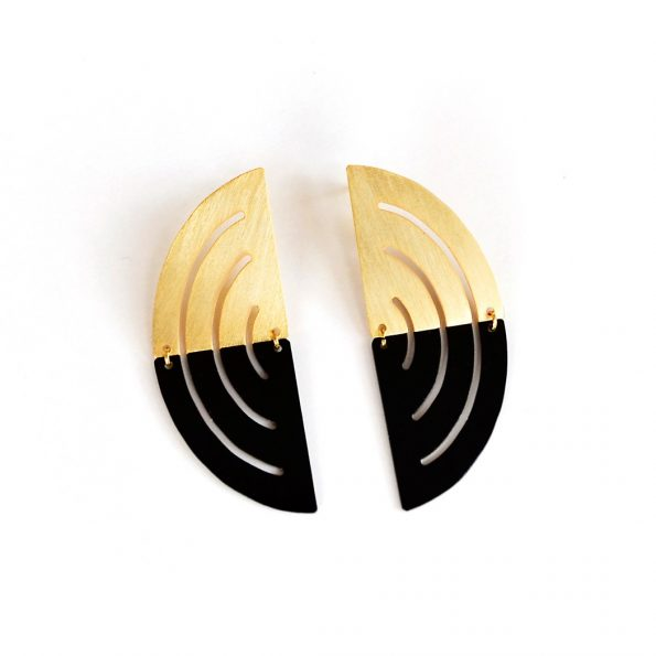 MEET THE CAT Circle Division Earrings