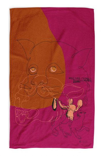 ERGON MYKONOS Dionysus Riding A Panther Towel