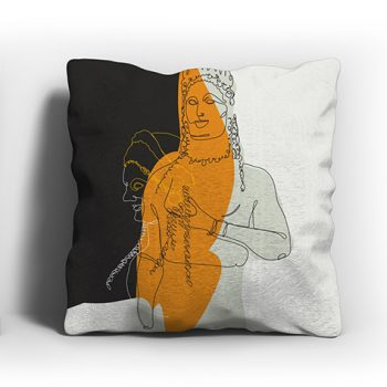 ERGON MYKONOS Kore Yellow Pillow Case
