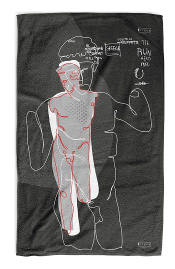 ERGON MYKONOS Run Hero Statue Towel