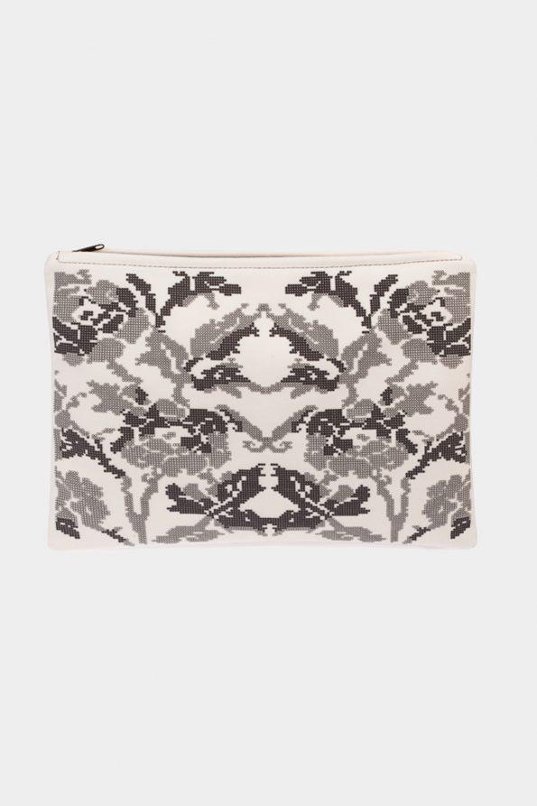 POSTFOLK 'Winter Bloom' Clutch Bag