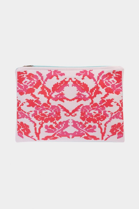 POSTFOLK 'Blooming Mornings' Clutch Bag