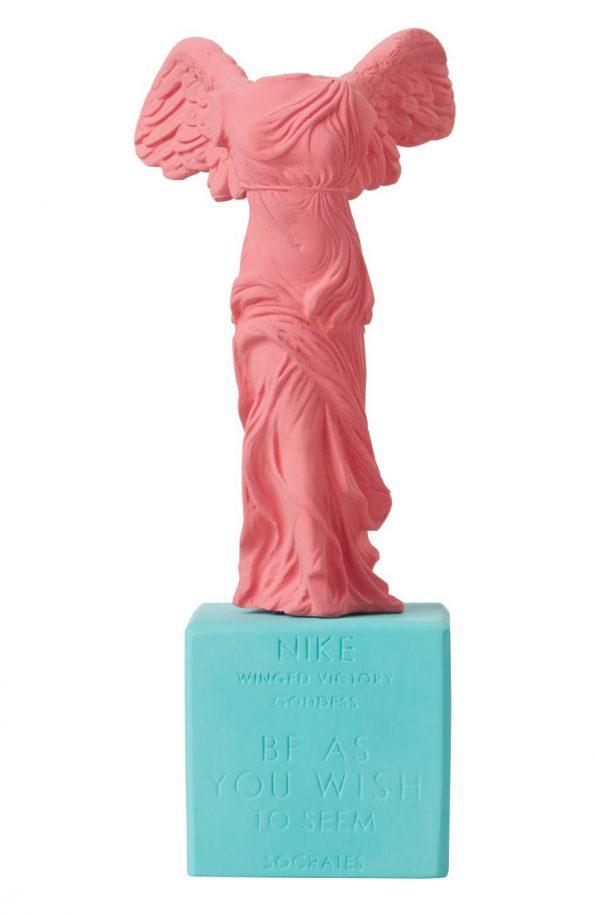 Nike of Samothrace Statue Pink
