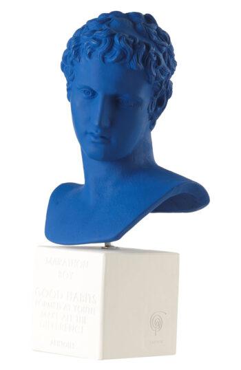 Marathon Boy Statue Blue